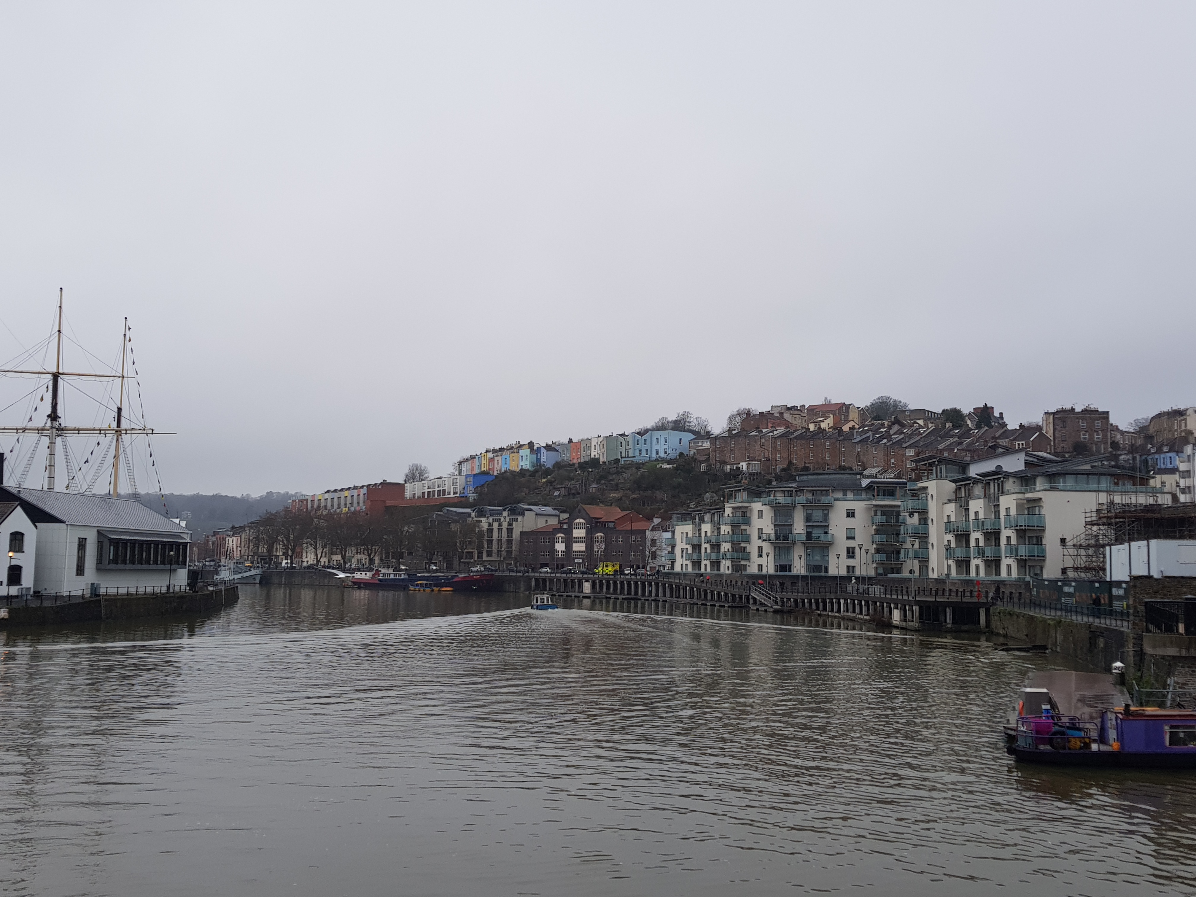 Bristol Harbour - a beautiful backdrop for a run, even in bad weather